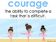 Character Education Posters with Social and Academic Vocabulary