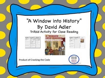 """""""A Window into History"""" Trifold Activity McGraw Hill Readi"""