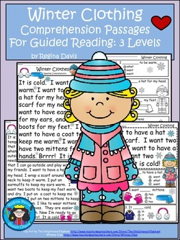 A+ Winter Clothing Comprehension: Differentiated Instructi