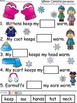 A+ Winter Clothing Sentences: Fill In The Blank