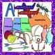 A Clip Art Words with Initial A Sounds in Realistic Color