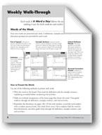 A Word a Day: Teacher Directions, Grade 1