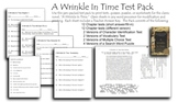 A Wrinkle In Time Test Pack -- Madeleine L'Engle