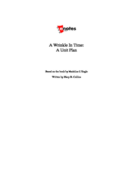 A Wrinkle in Time Lesson Plan