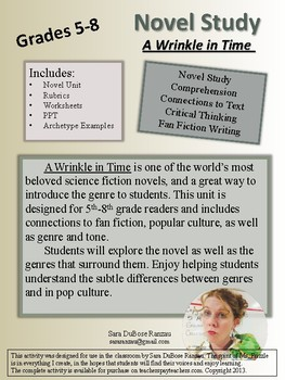 A Wrinkle in Time - Novel Study