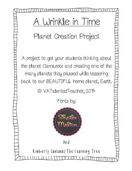 A Wrinkle in Time Planet Creation Project