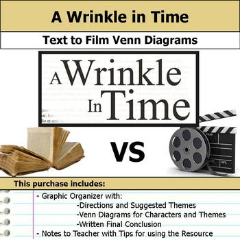 A Wrinkle in Time - Text to Film Venn Diagram and Written