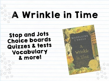 A Wrinkle in Time: Worksheets, Quizzes, Activities