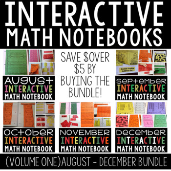 A  Year Full of Interactive Math Notebooks Vol 1 (August-
