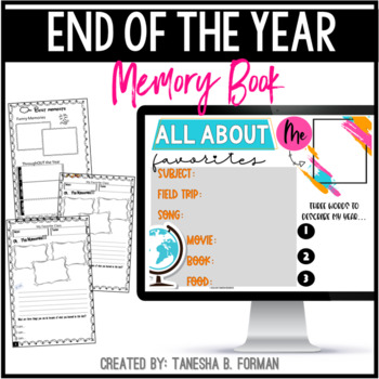 """A Year in Review: A Memory """"mini"""" Book for Upper/Middle Grades"""