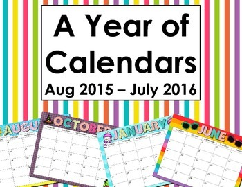 A Year of Calendars