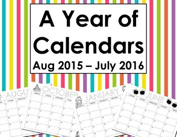 A Year of Calendars in Black & White