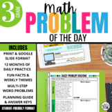 Daily Problem Solving for 3rd Grade: Yearlong Word Problem