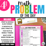 Daily Problem Solving for 4th Grade: Yearlong Word Problem