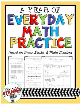 A Year of: Everyday Math Practice for 2nd Grade