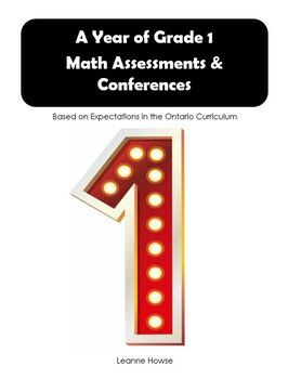 A Year of GRADE 1 Math Assessments - Revised - With Answer Key