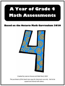 A Year of Grade 4 Math Assessments with answers