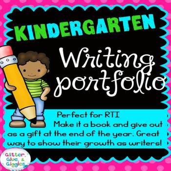 A Year of Kindergarten Writing Journal {portfolio}