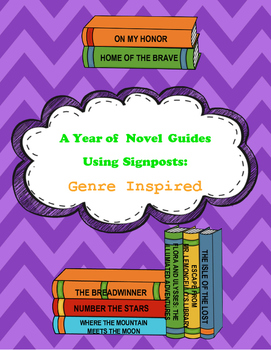 A Year of Novel Study Guides Using Signposts - GENRE Inspi