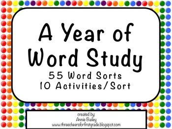 A Year of Word Study Activities Part 1