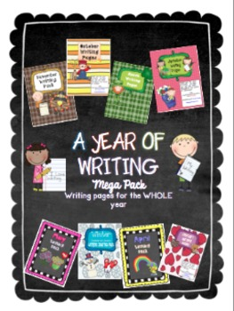 A Year of Writing MEGA Pack - Writing throughout the year