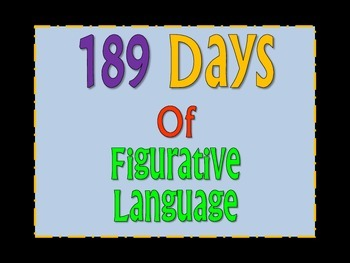 A Year's Worth of Figurative Language (189 different phrases)