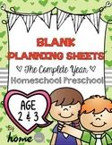 45 Toddler / Preschool Theme Ideas - Planning Sheets (Week