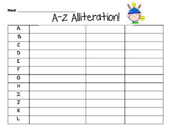A-Z Alliteration