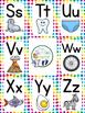 Alphabet Poster Set - Bright Polka Dot Style