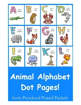 A-Z Animal Alphabet Dot Pages