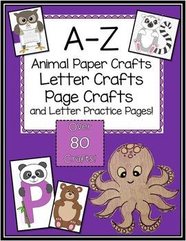 A-Z Animal and Letter Crafts BIG Bundle