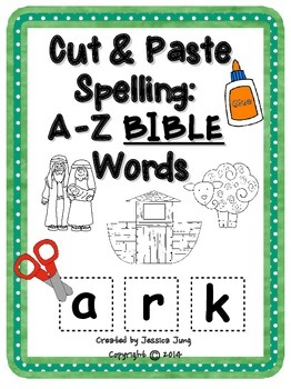 Cut & Paste Spelling: A-Z BIBLE Words