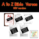 A-Z Bible Verses New International Version Black and White