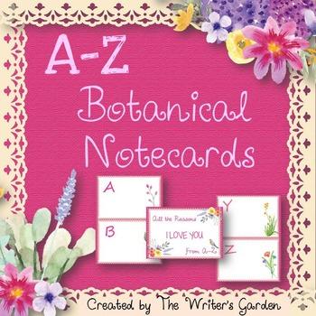 Alphabet Book Project: A-Z Botanical Cards