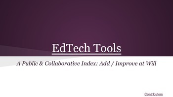 A-Z EdTech Tools Collaborative Google Presentation