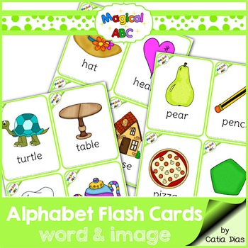 A-Z Flash Cards - Magical ABC - Images and Words