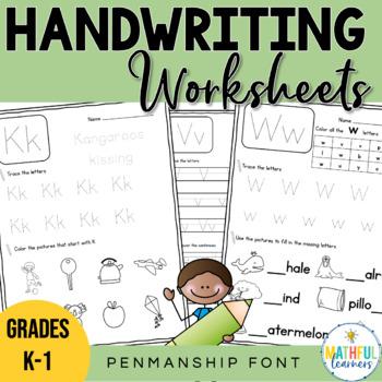 A-Z Handwriting Sheets