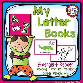 Letter Book Bundle for Identification, Phonics, Letter For