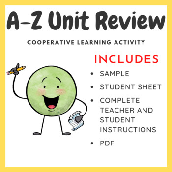 A-Z Knowledge Review - Reviewing Activity (Teacher Created)