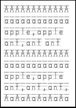 A-Z Letter Formation Tracer Pack