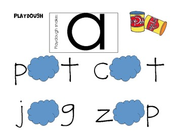 A-Z Playdough Word Work Center