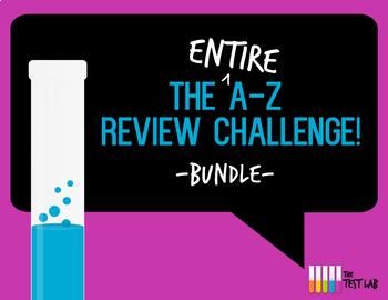 A-Z Review Challenge Activity Game Bundle