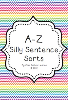 Sentence Sequencing - An A-Z of Silly Sentence Sorts