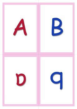 A-Z Small Flashcards or Game Cards