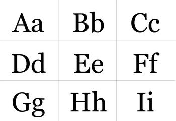 A-Z Upper and Lower Case Letter Flashcards