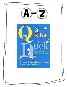 A-Z Writing/Reading Activity