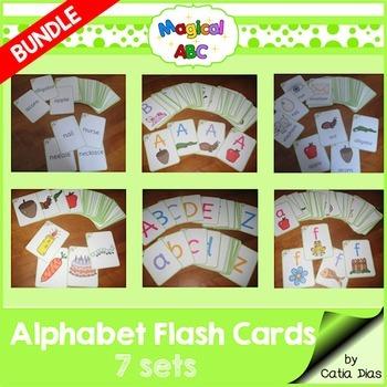 A-Z Flash Cards - Magical ABC - 7 sets