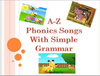 A-Z phonics songs with basic grammar (Pre-schoolers - Kind