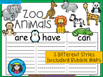 A+ Zoo Animals ...Three Graphic Organizers