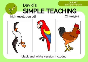 A bird in the hand - Not so cartoonish birds CLIPART IN PD